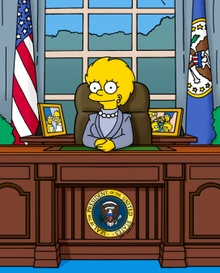 "Yeardley Smith as President Lisa Simpson in THE SIMPSONS - ""Bart to the Future"""