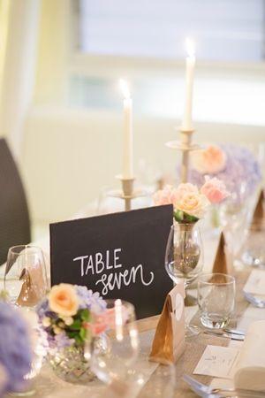 Blackboard With Reverse Quote Table Number - Lovebird Weddings, Noosa Australia