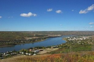 Peace River at the town of Peace River, AB