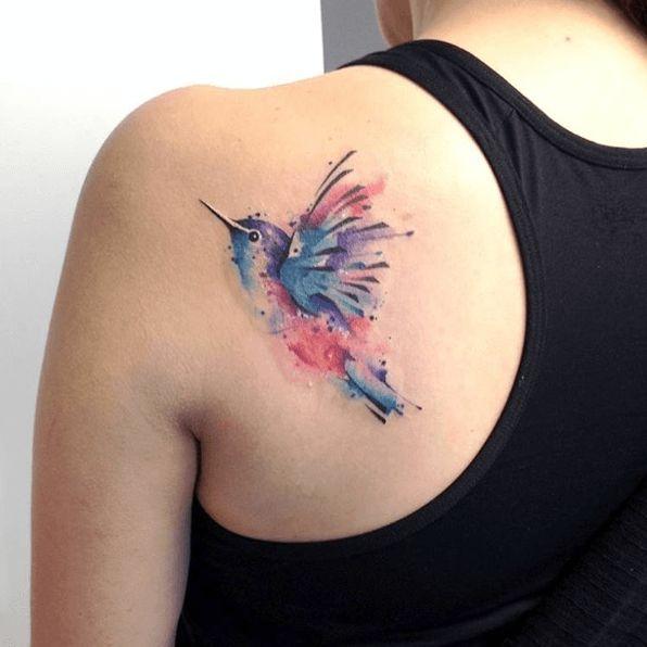 tatouage colibri epaule                                                                                                                                                                                 Plus