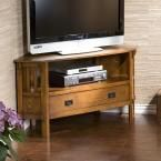 Abbot Dark oak Entertainment Center