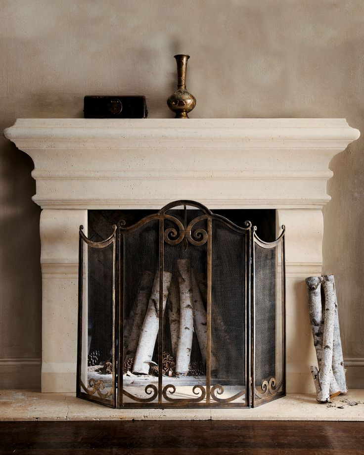 Large Stone Mantel - for basement...put candles underneath