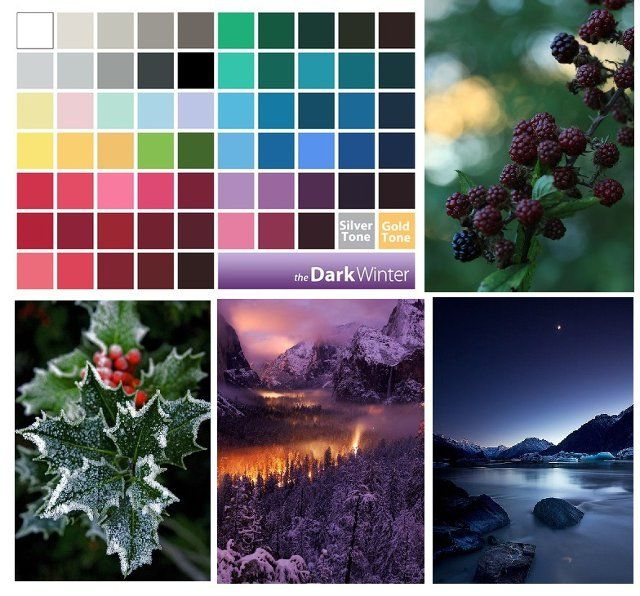 Dark Winter palette                                                                                                                                                      More