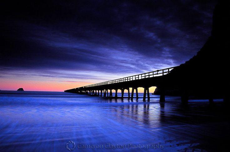 Tolaga Bay Wharf at sunrise - Cameron Clayton Photography