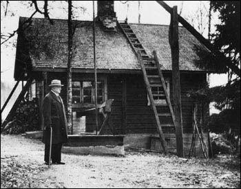 The sauna of Jean Sibelius 1905.  Ainola, Finland.
