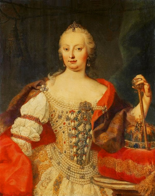 Maria Theresia, Queen of Hungary attributed to Martin van Meytens.