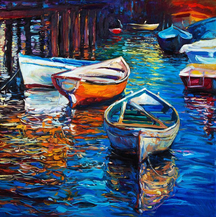 Abstract Painting - Boat By Ivailo Nikolov by Boyan Dimitrov