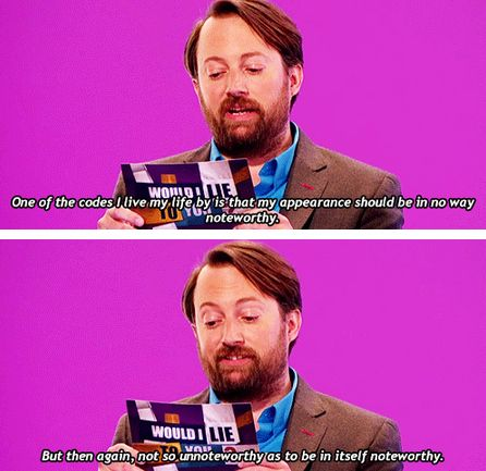 He knows how to blend in perfectly in real life. | Community Post: 26 Reasons David Mitchell Is The Internet's Spirit Animal