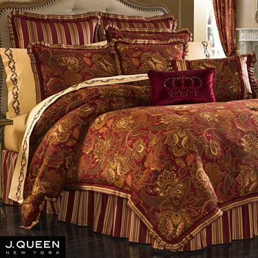 Scarlet Jacobean Comforter Bedding by J Queen New York ...