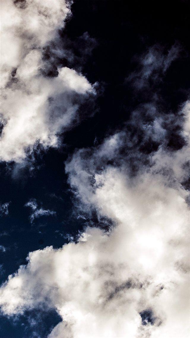 Cloud Dark Blue Sky Nature Summer iPhone 8 wallpaper
