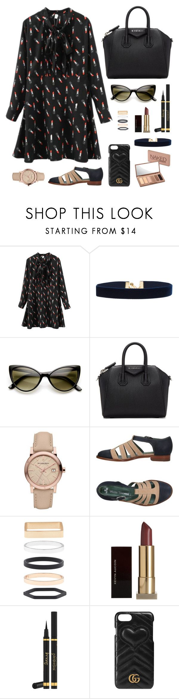 """Chata de Galocha - 12/10/2016"" by jessblock on Polyvore featuring Vanessa Mooney, ZeroUV, Givenchy, Burberry, Vivienne Westwood, Accessorize, Kevyn Aucoin, Yves Saint Laurent, Gucci and Urban Decay"