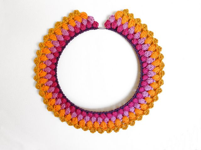 Ooh, the colours! Not sure if this piece is a necklace, a collar or both. But who cares when the colours just pop like this!