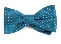 Bow Ties - Mini Dots - Teal
