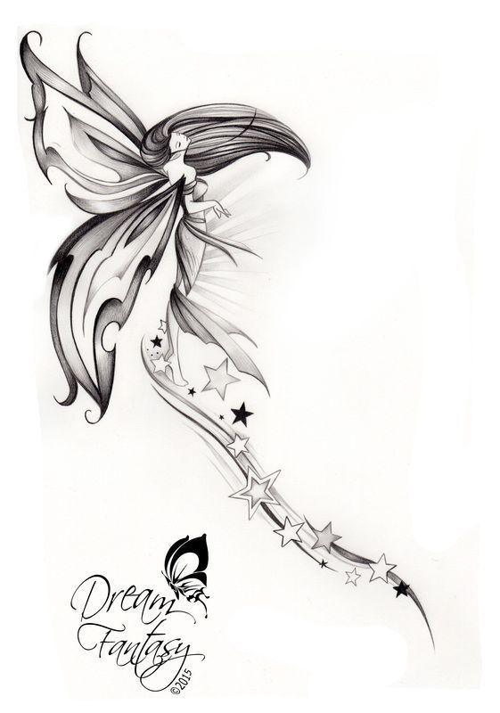 (Cliquer sur les images pour plus de détails) | Tatouage, Tatouage elfe, Modèles de tatouage de fée