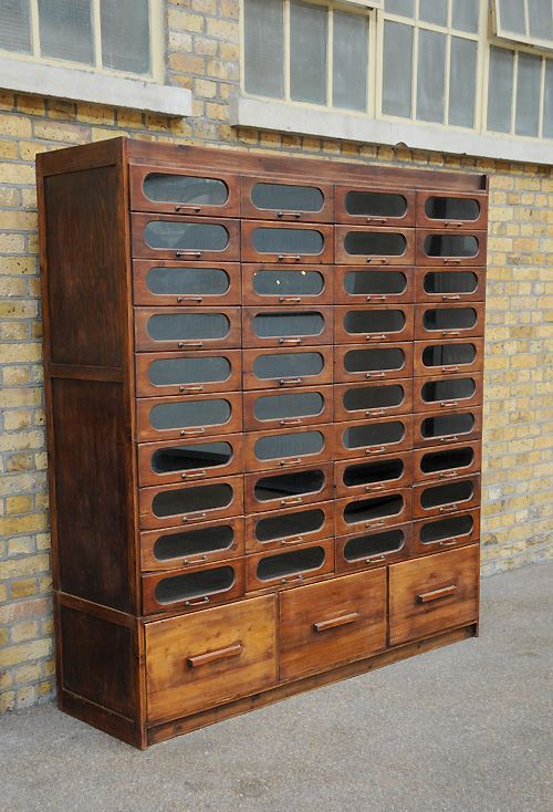 furniture, wooden #cabinet, glass front  #drawers