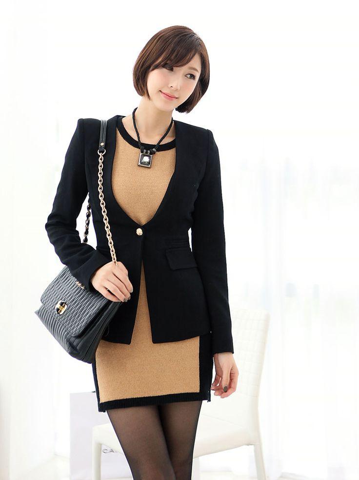 Moda coreana 18 modelos de ropa para ir al trabajo for Modelos de oficinas