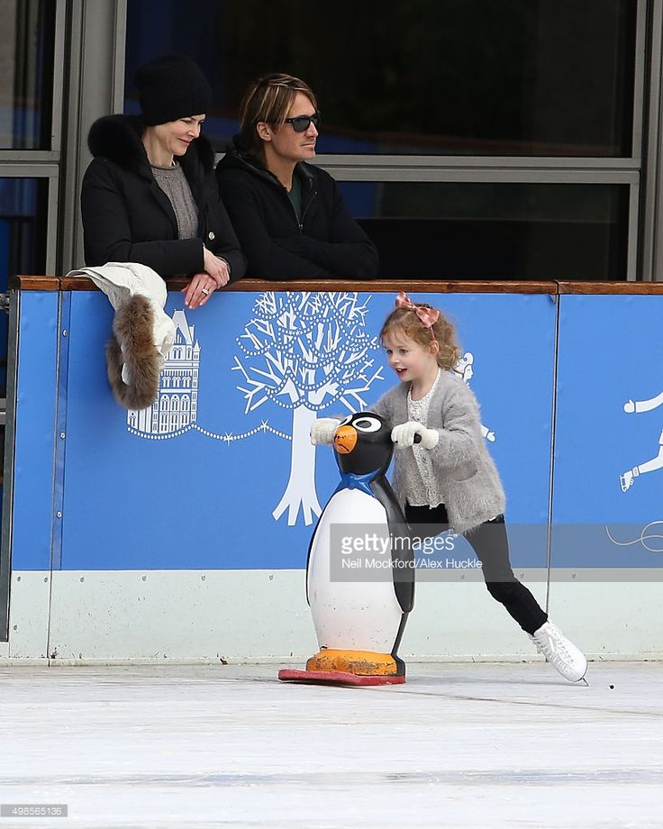 Nicole Kidman and husband Keith Urban are seen watching their children at The Natural History Museum Ice Rink on November 16, 2015 in London, England.