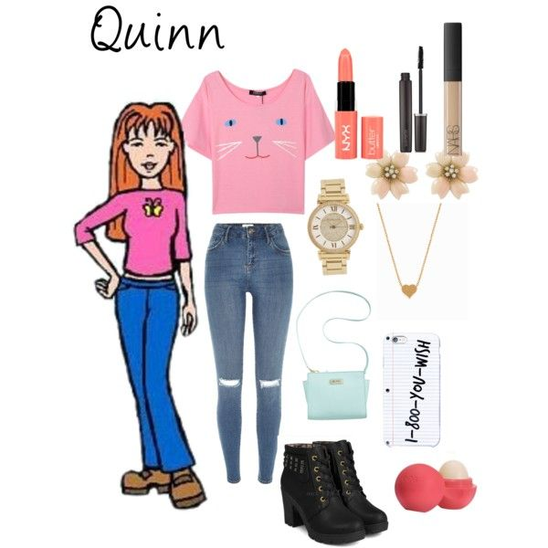Quinn morgendorffer by hajimo on Polyvore featuring polyvore, fashion, style, River Island, yeswalker, Marc Fisher, Minnie Grace, Michael Kors, Laura Mercier, NYX, NARS Cosmetics and Eos