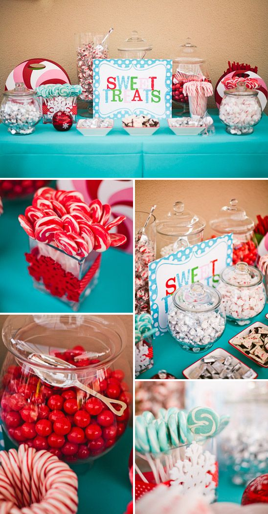 Christmas 1st Birthday Party Ideas Part - 18: Find This Pin And More On Christmas Candy Bar. Winter Candyland Themed  Birthday - Pretty My Party