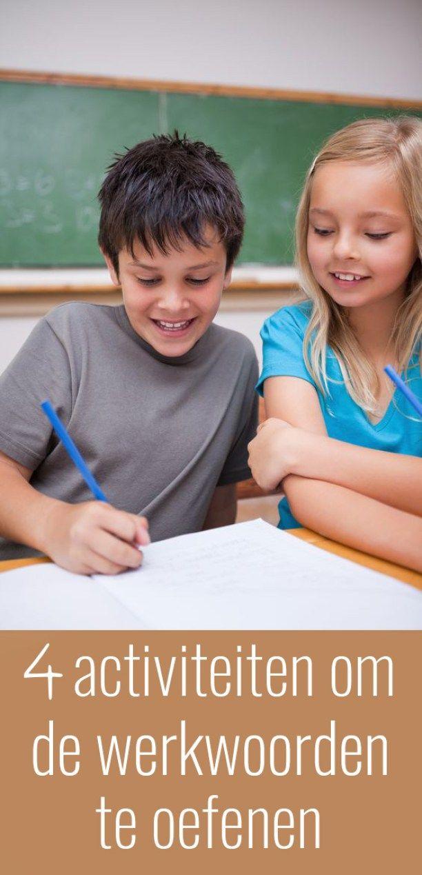 4 activiteiten om de werkwoorden te oefenen