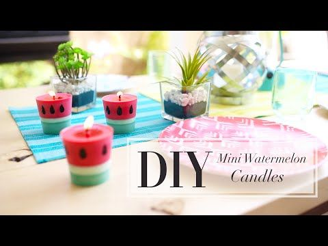 These DIY Watermelon Candles Will Help Repel Bugs This Summer
