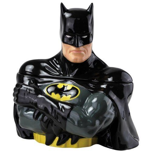 Title: Batman Ceramic Cookie Jar, 11.25-Inch Item Number: 25515 Dimensions: 11.2 x 9.8 x 8.2 inches Weight: 5.20 lb