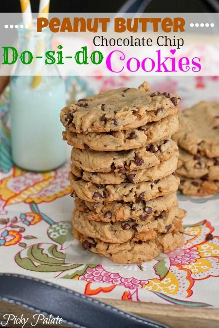 Peanut Butter Do-si-do Chocolate Chip Cookies