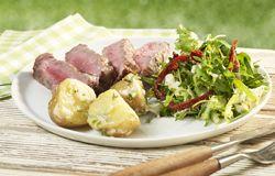 Steak met 3 pepers en pittig slaatje