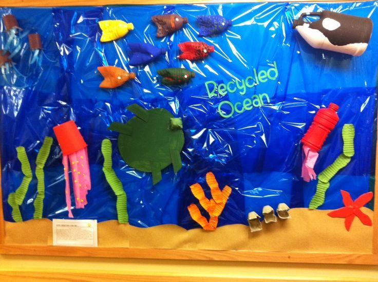 Recycled Ocean Bulletin Board