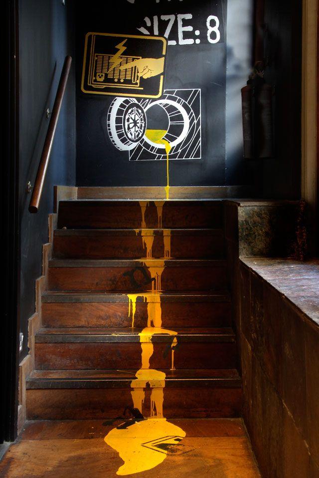 Stair graphics Design concept for restaurant - Mystery Ltd