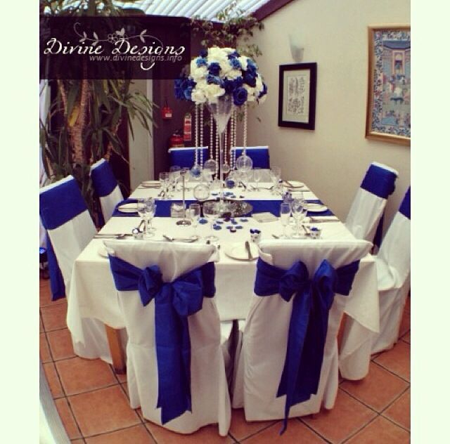 Blue Wedding Table Decorations: 133 Best Images About Royal Blue Party Decor On Pinterest
