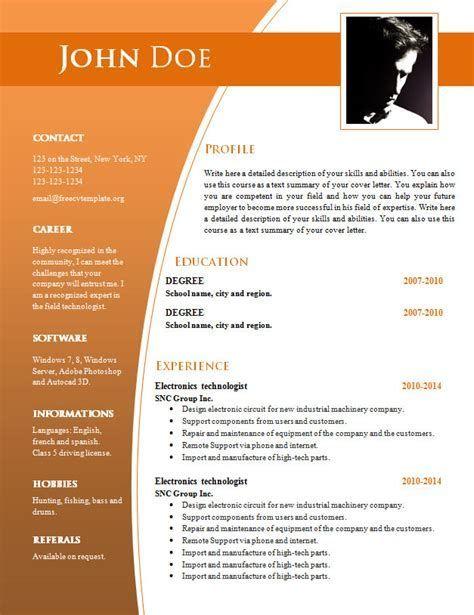 best sample resume format 2014