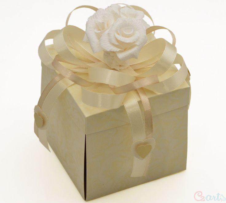 Kartka Rocznica Ślubu pudełko złoty tort Cz-art Laboratorium kreatywności