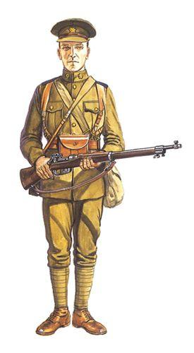 Soldado de Infantería, CEF, Otoño de 1914.