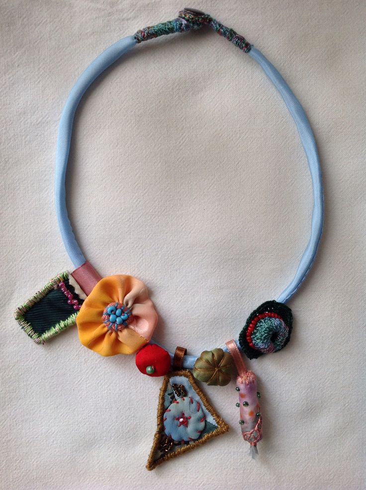 20 best My Necklaces images on Pinterest | Fabric jewelry, Fiber ...