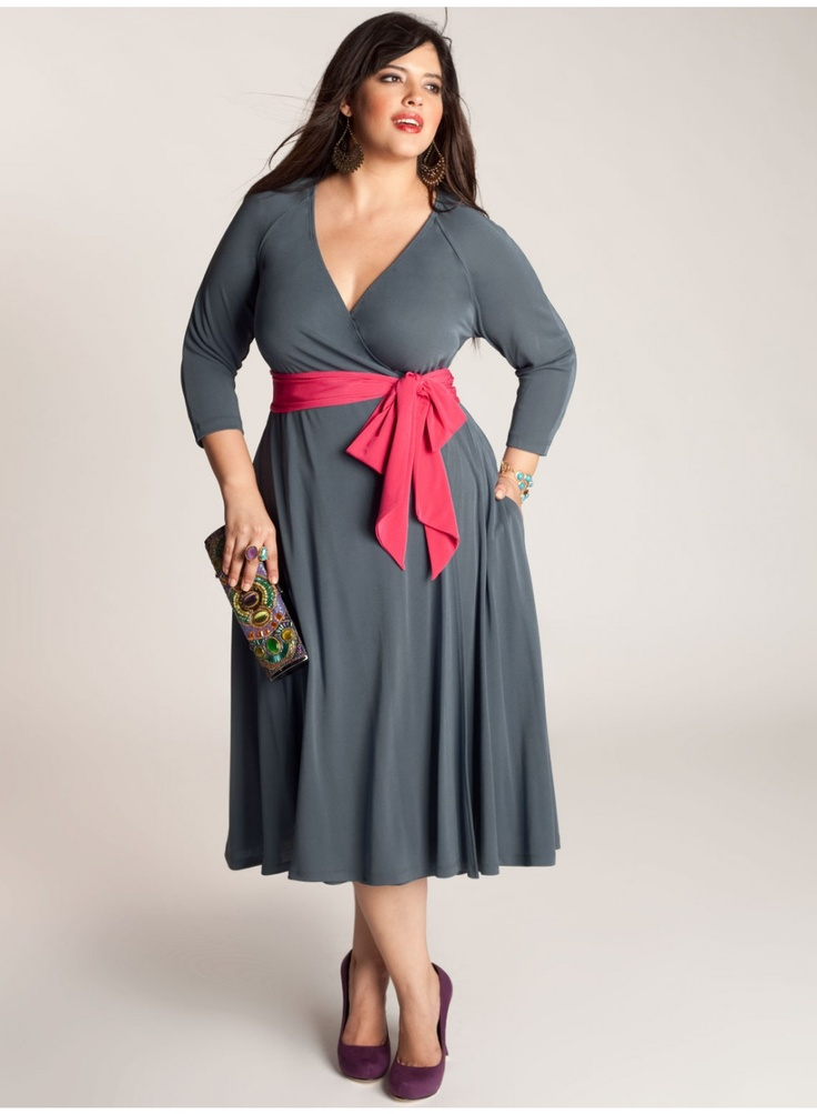 Plus Size Wrap Dresses - Holiday Dresses