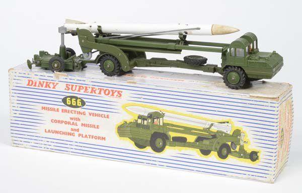 Dinky Toys, rocket transporter, England, diecast,