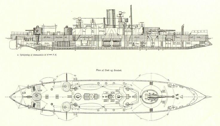 Danish coastal defence battleship/ironclad Skjold