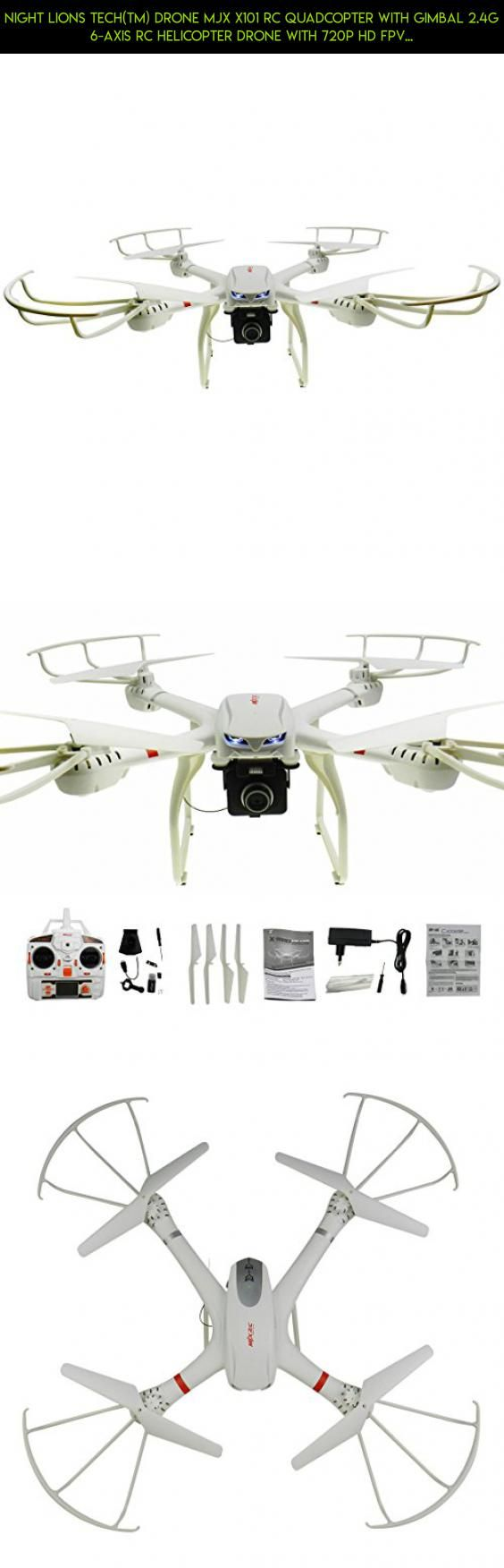 NiGHT LiONS TECH(TM) Drone MJX X101 RC Quadcopter with Gimbal 2.4g 6-axis Rc Helicopter Drone with 720p HD FPV Real-Time C4008 Camera Compatible with 3D Roll Quadcopter #gadgets #kit #technology #tech #mjx #c4008 #racing #camera #drone #parts #shopping #products #plans #camera #fpv