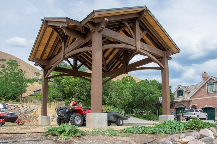 RV Cover: 4 Gabled DIY Pavilion w/Fab Chunkiness