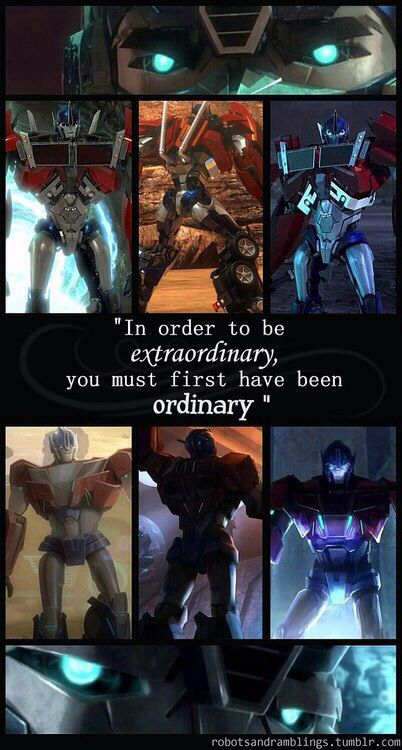 One of my favourite Optimus edits of all time. Everyone is capable for greatness, look at Optimus Prime even he was just Orion Pax after all.