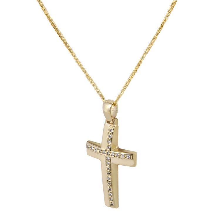 Ένας πανέμορφος σταυρός σε 14Κ Χρυσό.