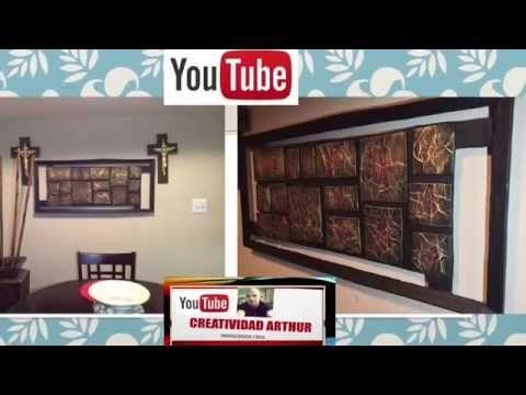 DIY  cuadro moderno ,si de cartón y periódico DECORANDO TU CASA - YouTube