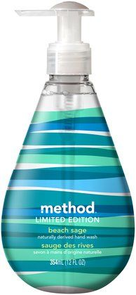 """Method hand soap with GREY striping """"White Birch"""" is the BEST smell ever!!! I have it in bath and kitchen now and find reasons to wash my hands lol!"""