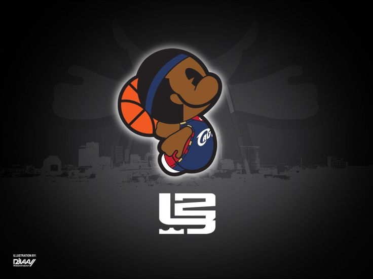 Lebron James Cartoon Character HD Wallpaper Desktop and iPad