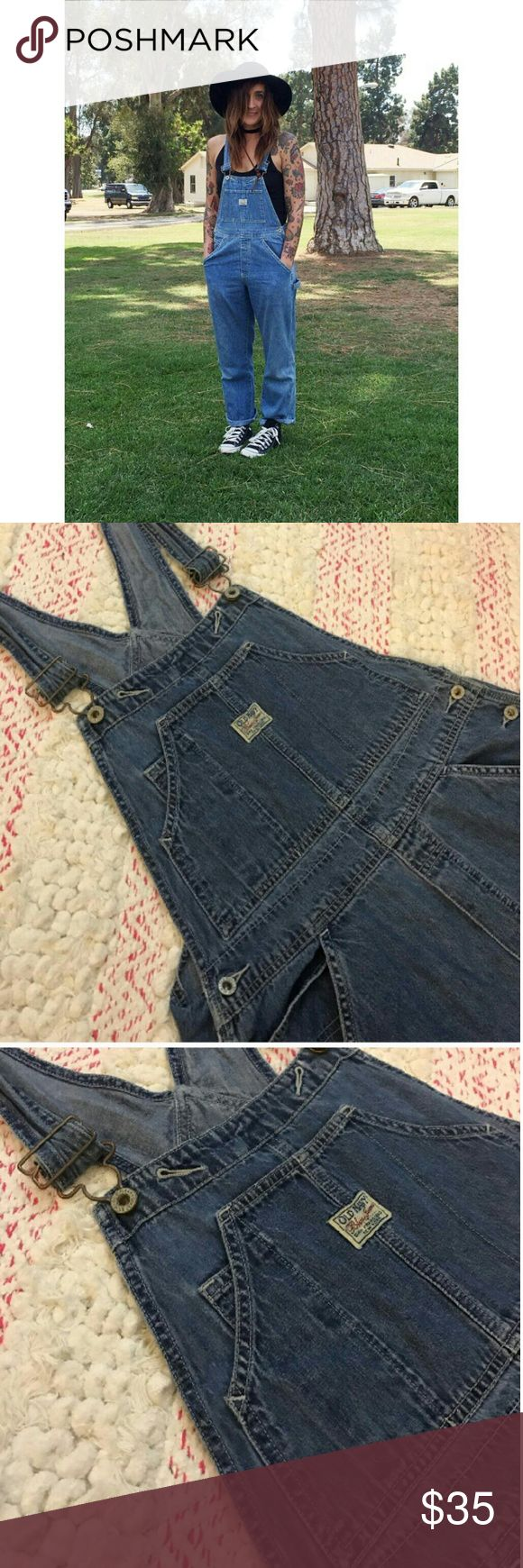 """Old Navy Overalls Vintage 1990's Old Navy Overalls. Really cute but I am way too short forbthese!  Do bummed out bc they're adorable & this trend is coming back!! Size Medium. Inseam 30"""" Excellent conditionm Old Navy Pants Jumpsuits & Rompers"""