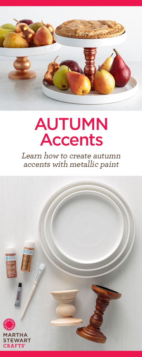 DIY Autumn Accents from Martha Stewart crafts using the same fall color Palette. Check out these three amazing ideas!