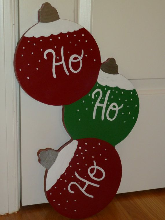 Wooden Ornament Handpainted Door Decoration by DesignsByJackieByrd, $25.00