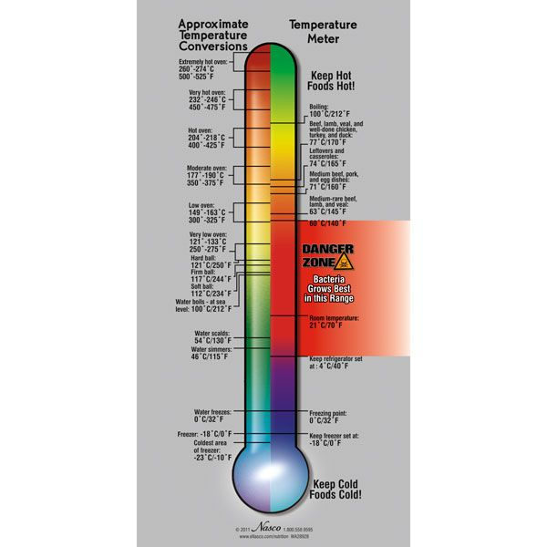 Food Safety Temperature Poster | Food Safety - Posters