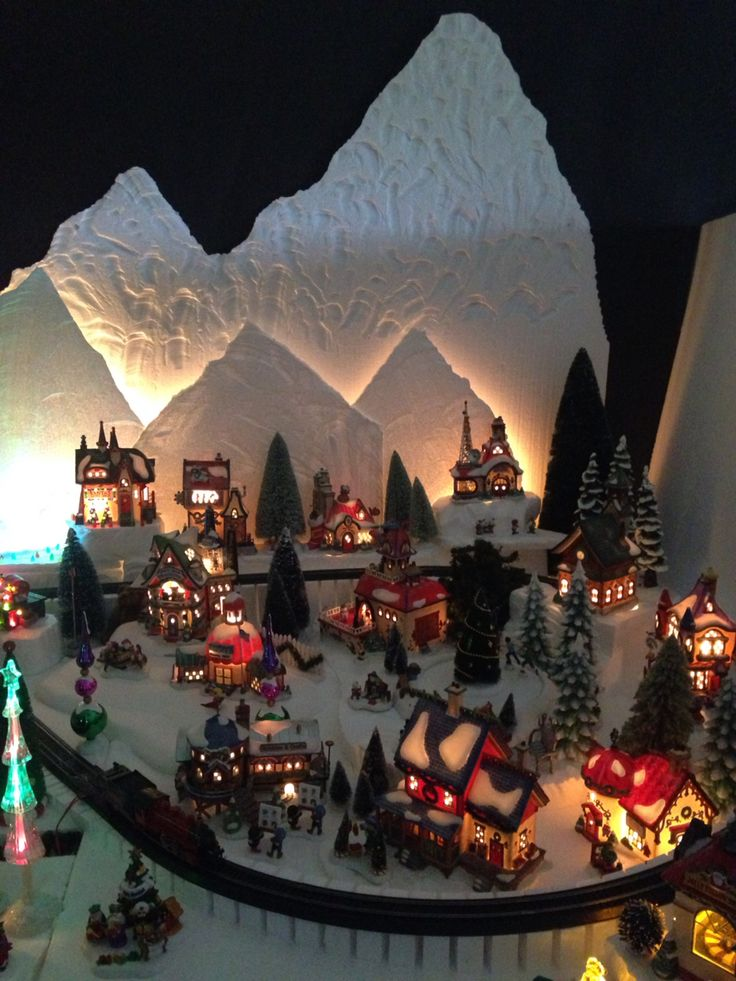 Another section of my North Pole Christmas Village by Dept 56.